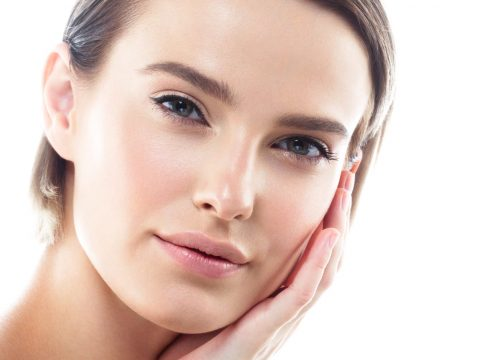 Woman with a youthful look after dermal fillers