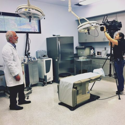 Behind the scenes look at Dr. Tanghetti being filmed for Fox News