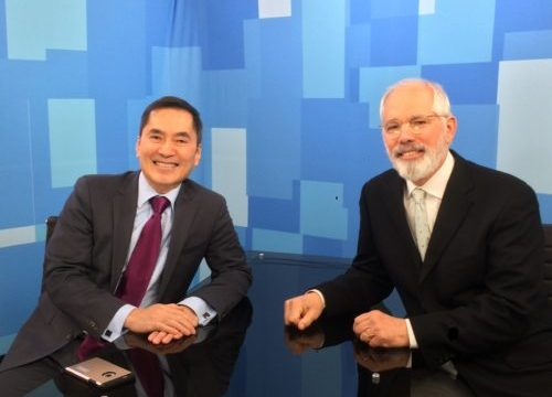 Dr. Tanghetti and Dr. Jerry Tan at Medscape Studios.