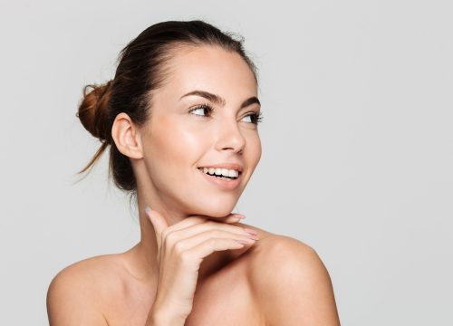 Woman with clear skin after laser scar removal