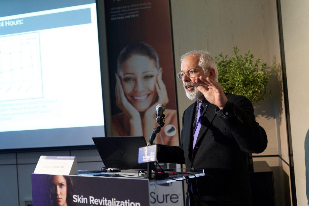 Dr. Tanghetti speaking at the Skin Revitalization Seminar