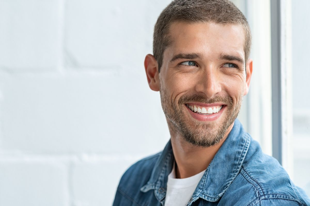 Good-looking man smiling