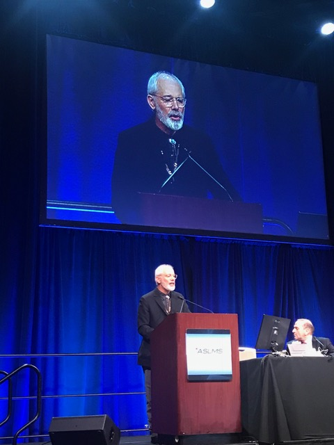 Dr. Tanghetti speaking at the 2018 ASLMS Annual Meeting