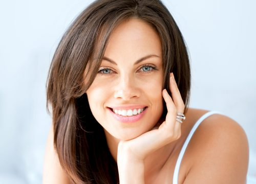 Happy woman following vein treatments